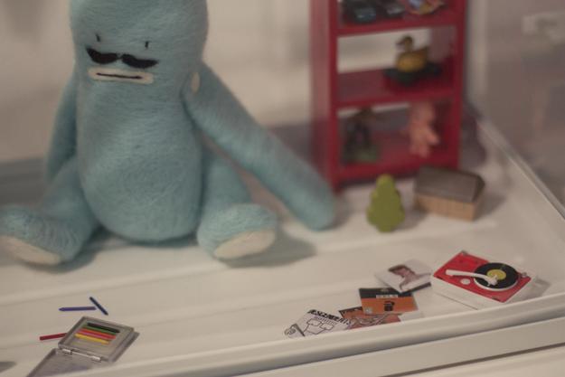 Muñecos de fieltro de la exposición Best Friends Forever