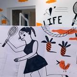 Del papel a la pared, el proceso creativo de Harsa Pati