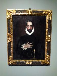 Copia de Rusiñol sobre El caballero con la mano en el pecho de El Greco.