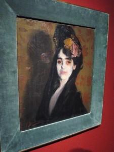 Retrato femenino de Rusiñol