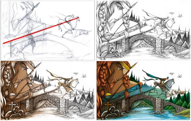 Proceso de dibujo