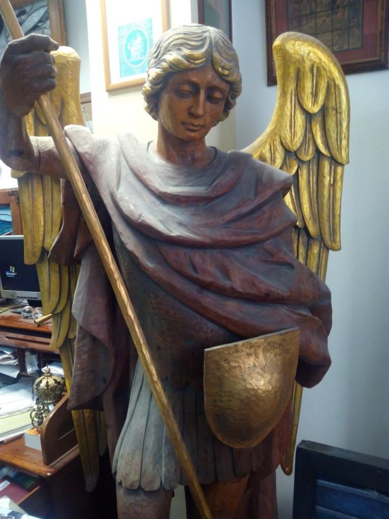 Una de sus últimas obras escultóricas