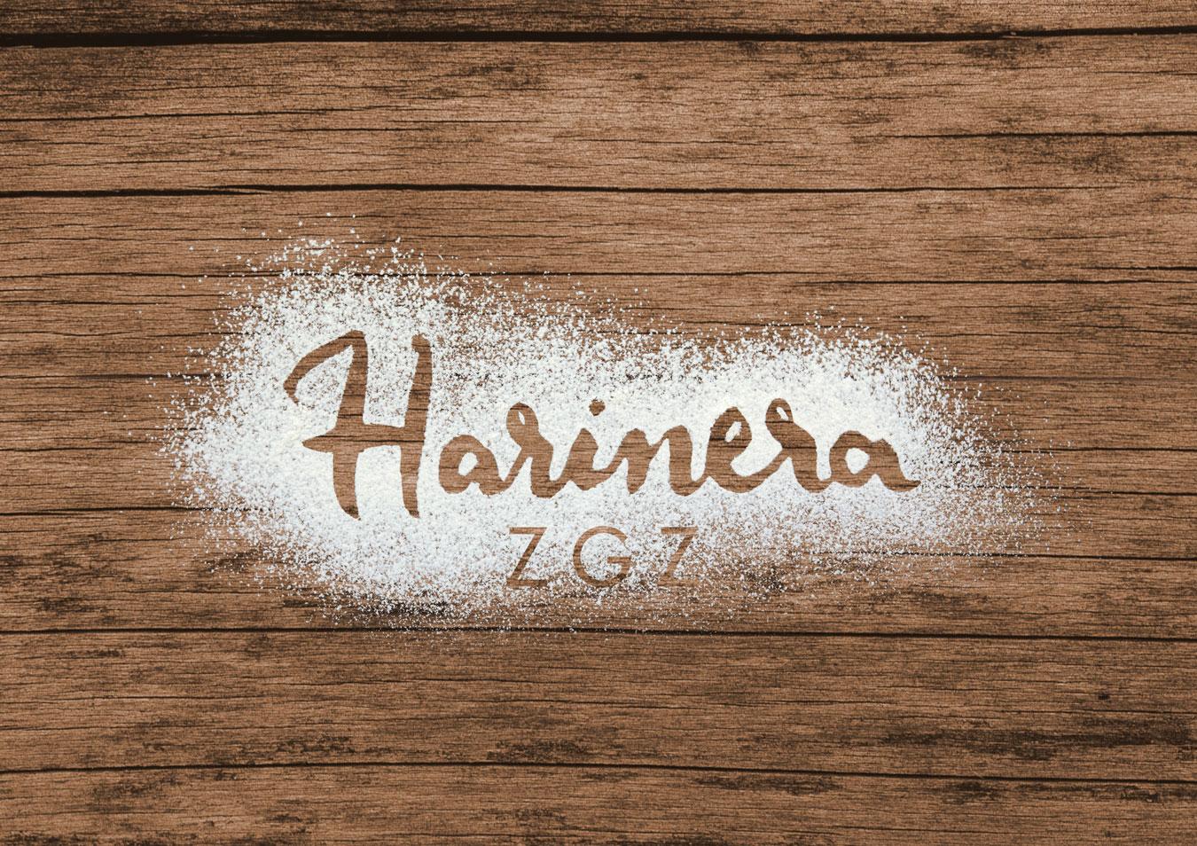 logotipo Harinera ZGZ por Estudio Mique