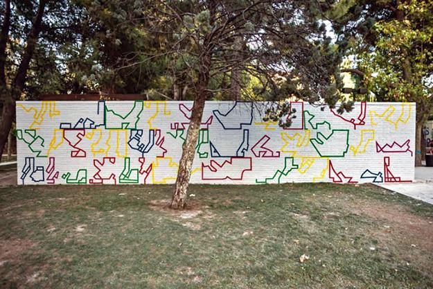 Intervención de Eltono en el Parque Delicias