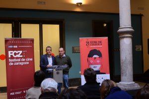 El consejero municipal Fernando Rivarés y José Luis Anchelergues, director del Festival, en la presentación de la 21 edición (Foto: FCZ)