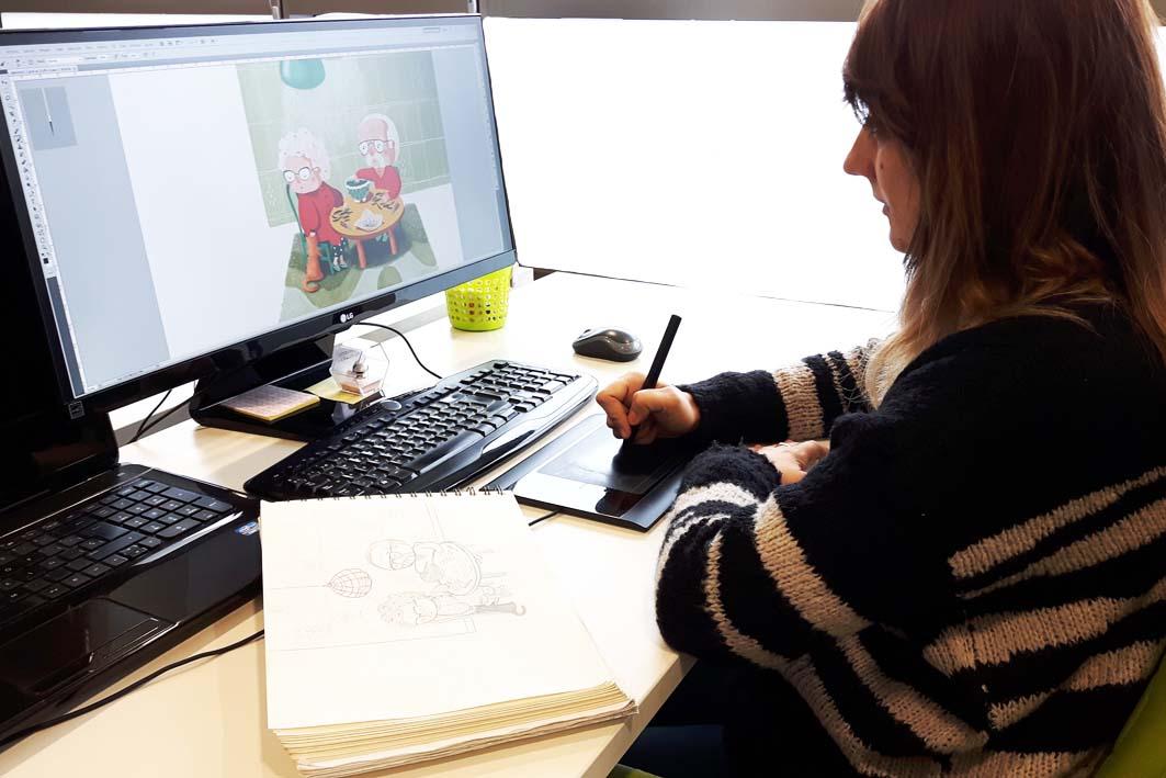 Entrevista a Mamen Marcén, la ilustradora detrás de Chica con Flequillo
