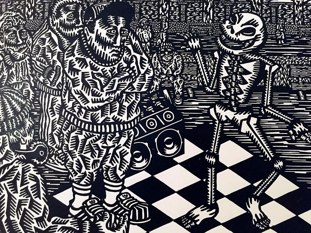 Una danza macabra en la Galería Antonia Puyó