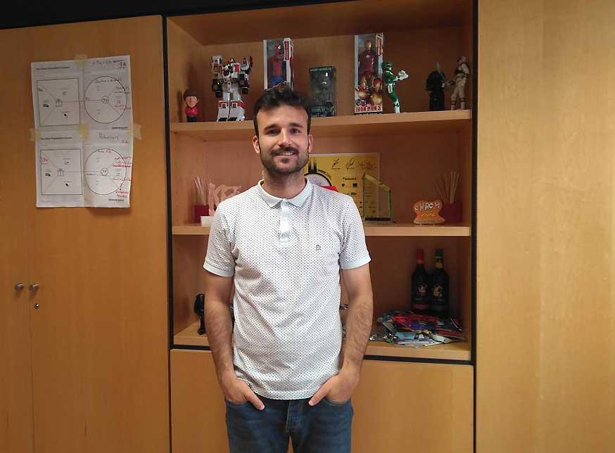 Pedro Lozano, en un momento de la entrevista.