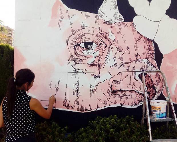 EricaConC trabaja en una obra del 11º Festival Asalto
