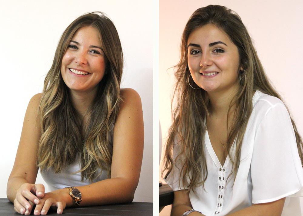 Lucía Rabanete y Marta Peiró