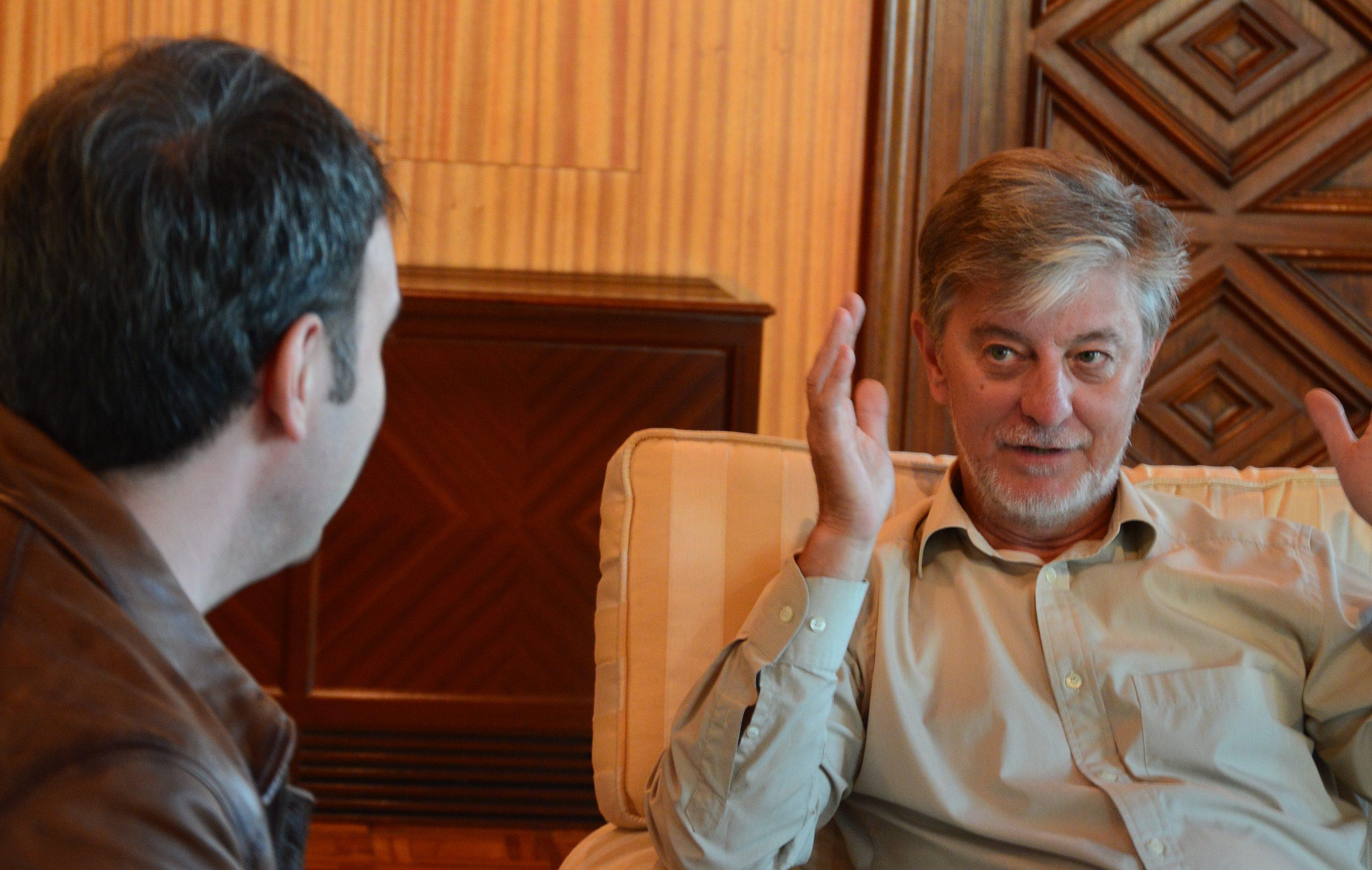 Un momento durante la entrevista