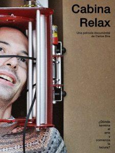 Cartel de 'Cabina relax' en el que aparece Daniel Cecilia