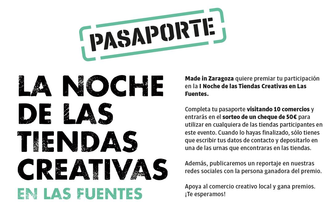 Pasaporte de La Noche de las Tiendas Creativas en Las Fuentes