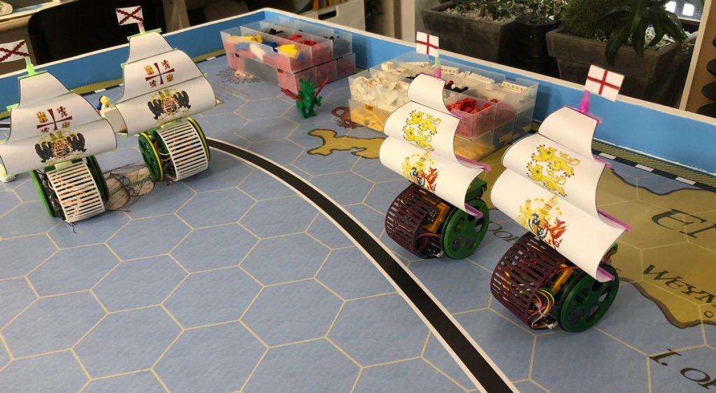 la armada invencible en robots