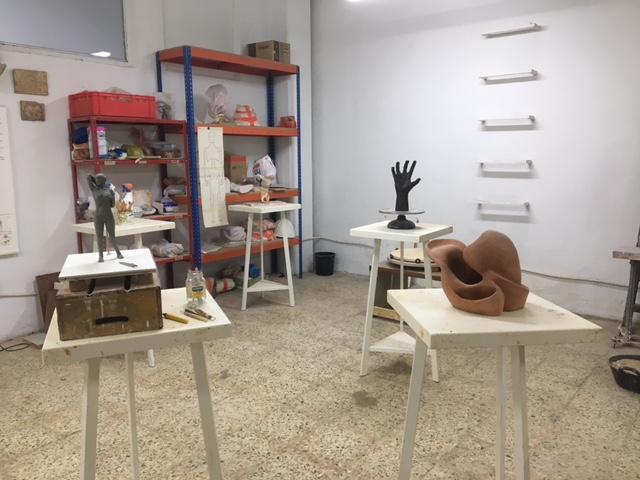Espacio de Alovolumen en el que tienen lugar las clases de escultura