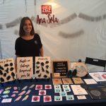 Ana Sola estuvo en el mercado de artesanía de la Noche de las Tiendas Creativas en Las Delicias