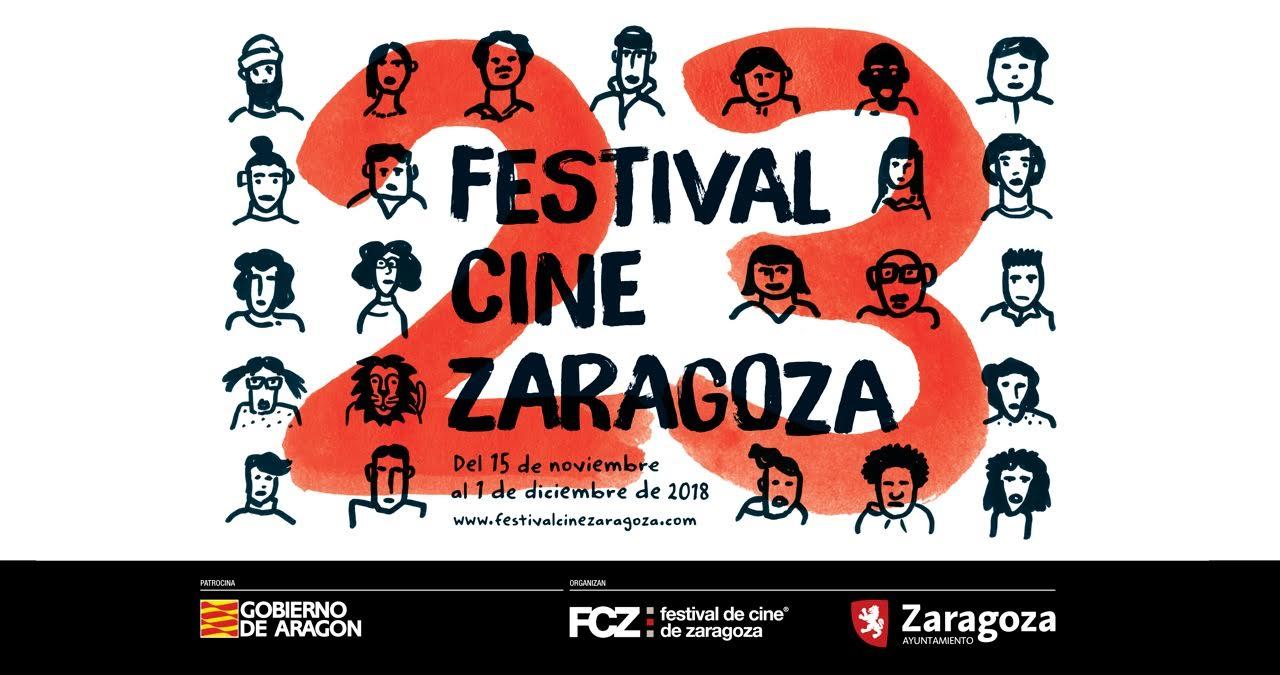 Versión horizontal del cartel oficial de la 23 edición del Festival de Cine de Zaragoza