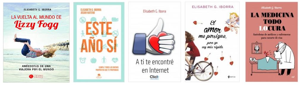 Algunos de los libros publicados por Elisabeth G Iborra.