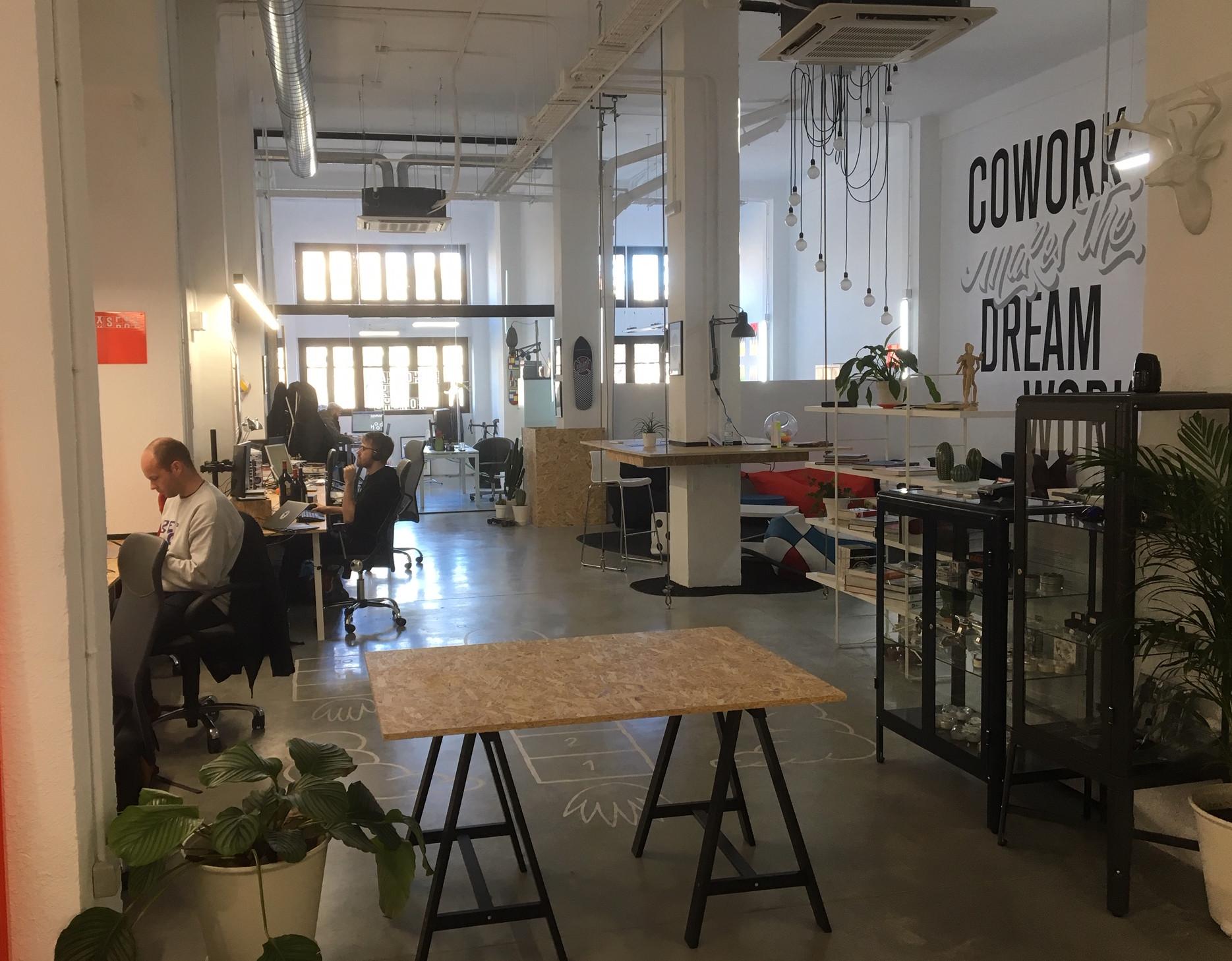 Vista de Recreo Coworking, espacio ubicado en Miguel Servet, 11