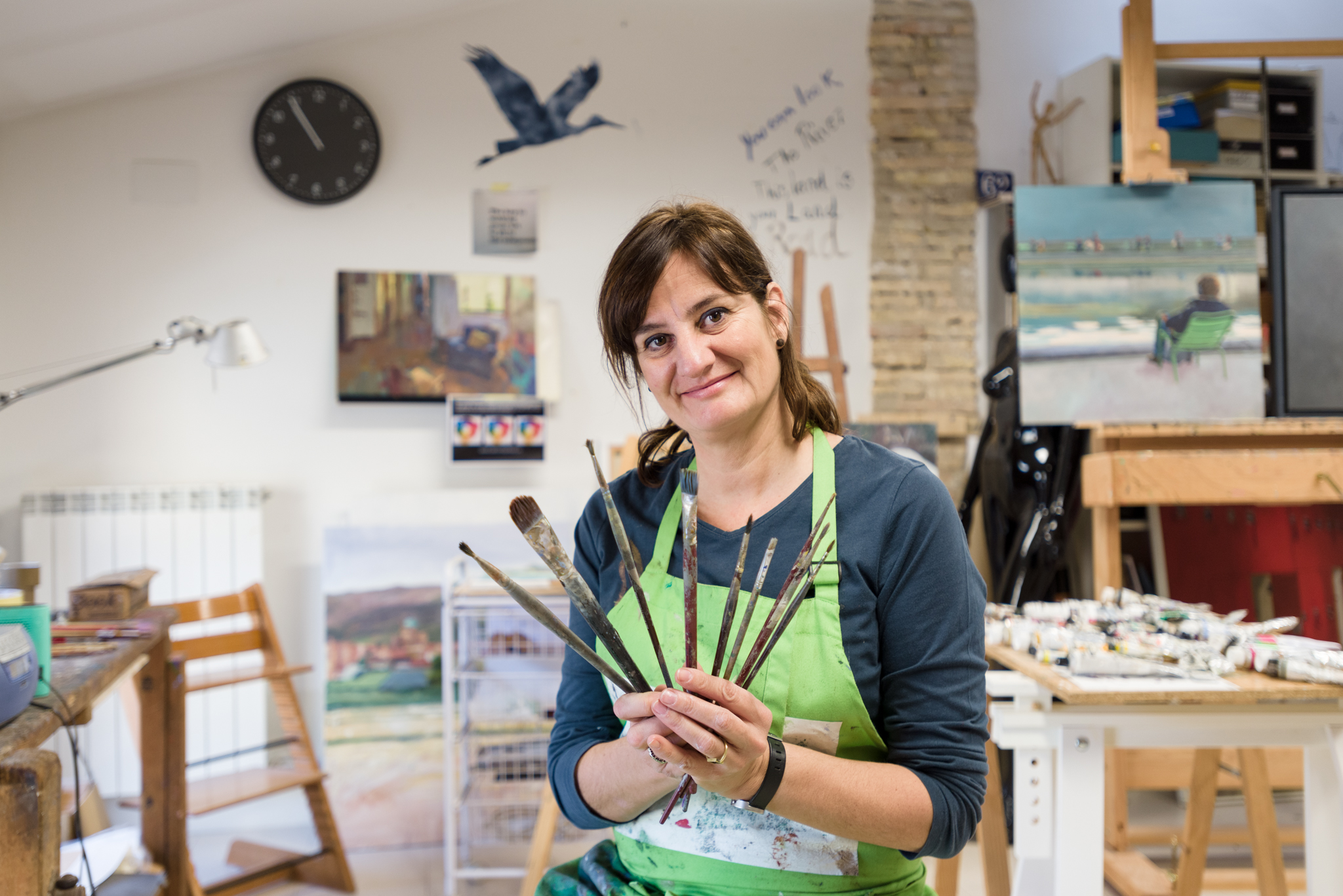 Cristina Guallart, una artista con pincel y voz propia