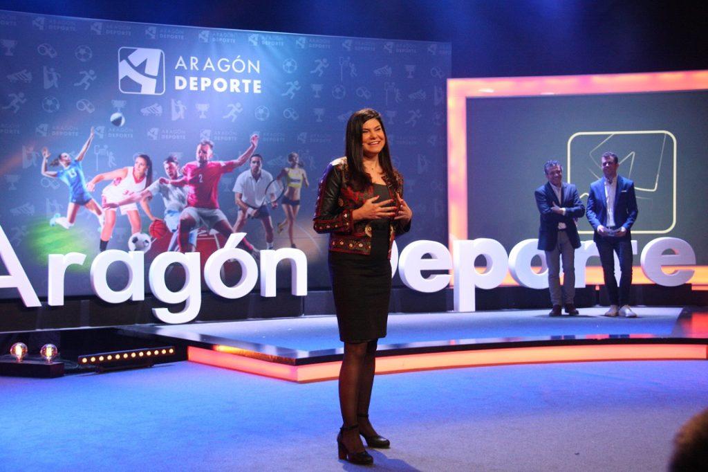 Teresa Azcona, en la presentación de la plataforma digital Aragón Deporte (autor: CARTV)