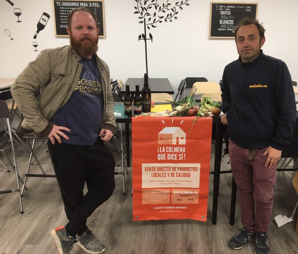 Alex H. Mabry (cerveza Golden Promise) y Rafa Gutiérrez (Melada Huerta Saludable), dos de los productores sumados a la colmena de Lasca Negra