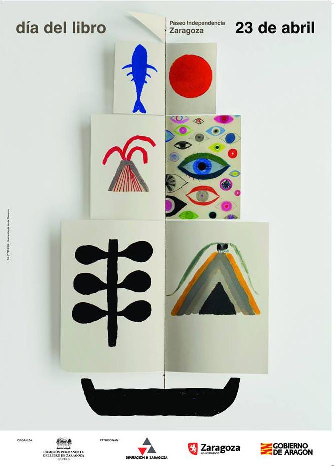 Cartel del Día del Libro en Aragón (2019)