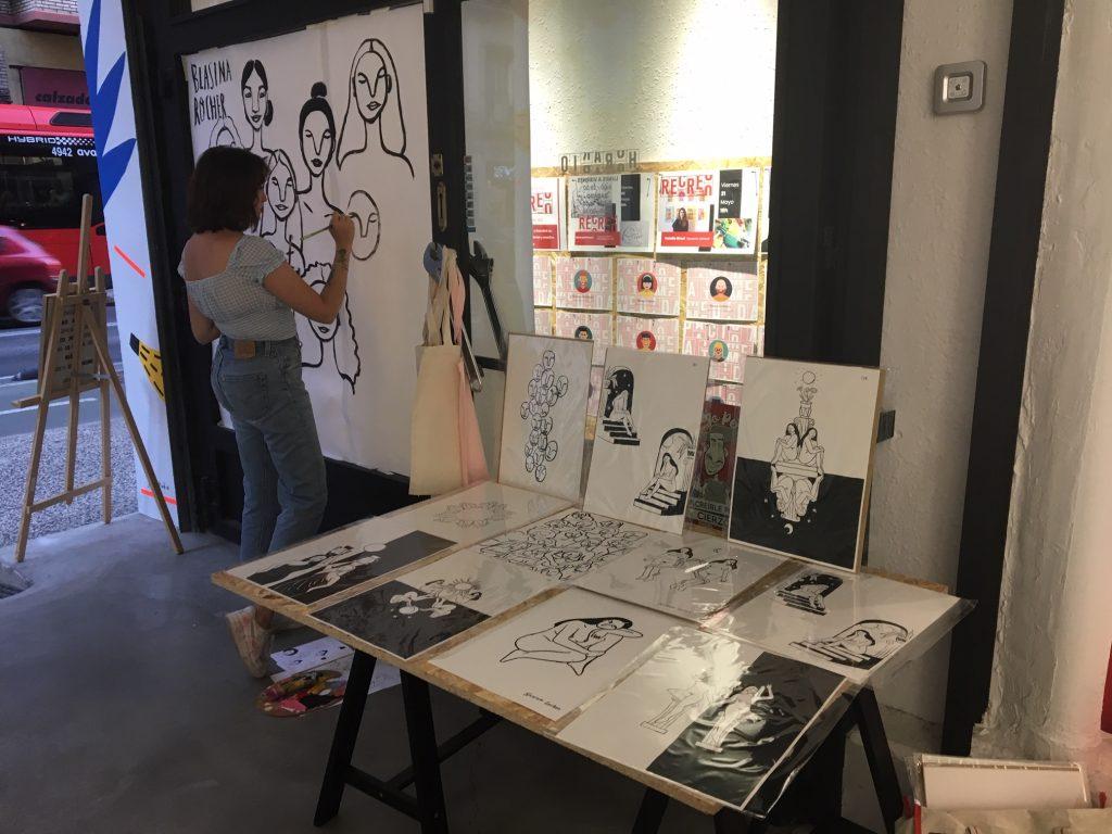 Blasina Rocher, con sus ilustraciones en El Patio de Recreo