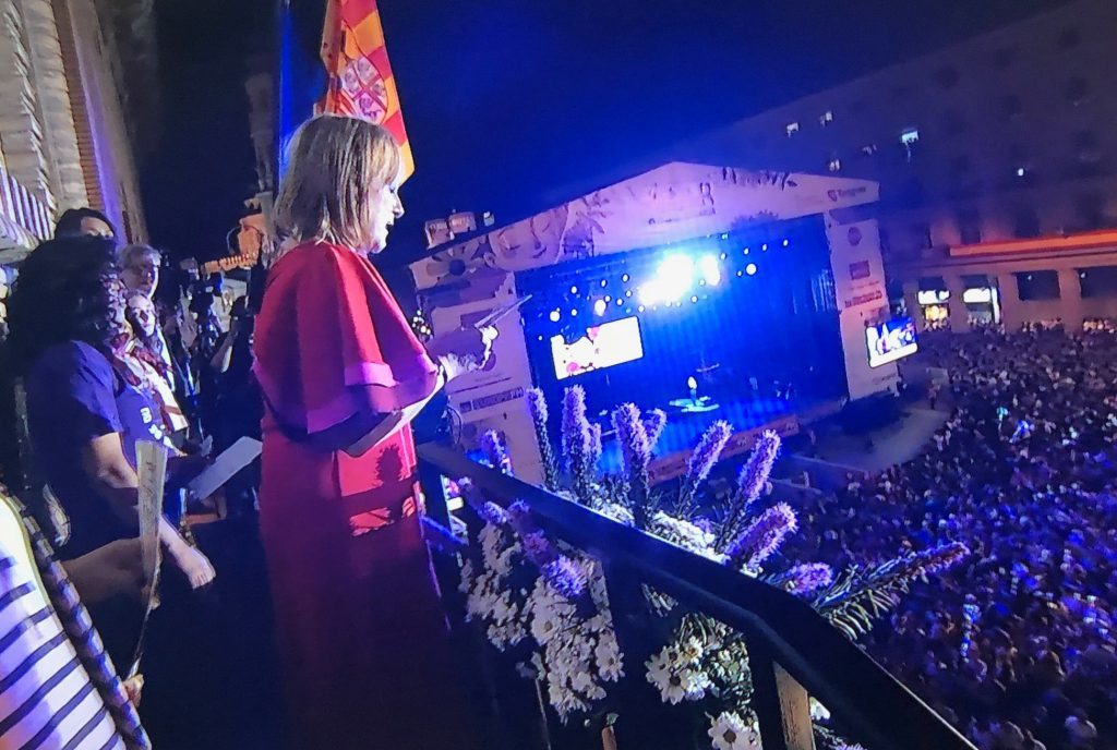 María Jesús Lorente en el Pregón del Pilar 2018