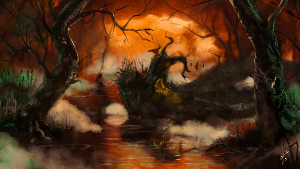 'Pantano', ilustración ambiental de Alfonso Miguel Sánchez