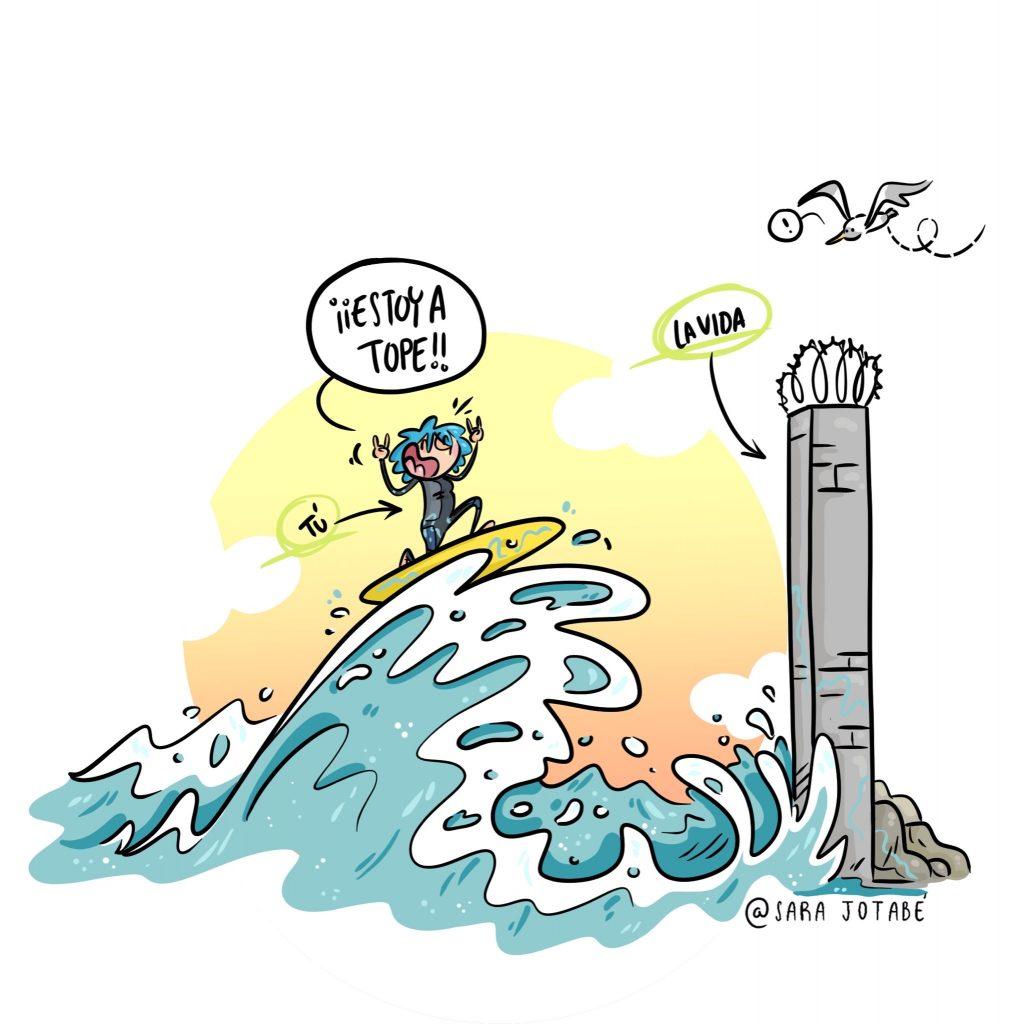 Una de las ilustraciones de Sara Jotabé