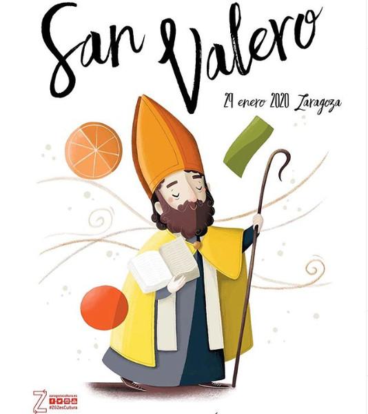 El cartel de San Valero 2020, obra de Chica con Flequillo