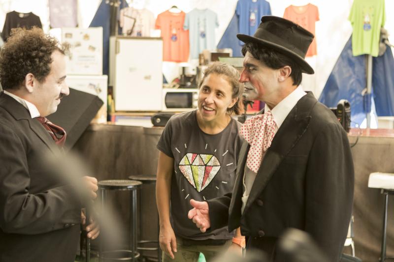 Patricia Roda, en el rodaje del documental sobre el payaso Marcelino