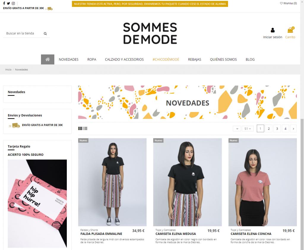 Tienda Online Sommes Démode