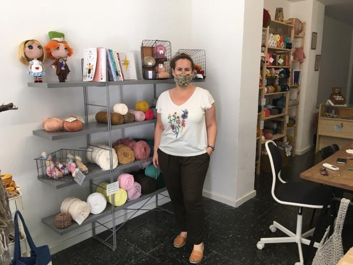 Adriana Enfedaque, de la ovillería El rinconcico de Adri