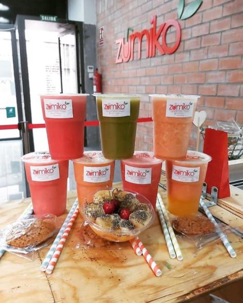 Algunos de los jugos que pueden tomarse en Zumiko (Instagram de Zumiko)