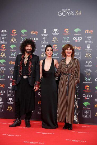 Amelia Hernández, en los Goya de 2020 con Ara Malikian y Nata Moreno