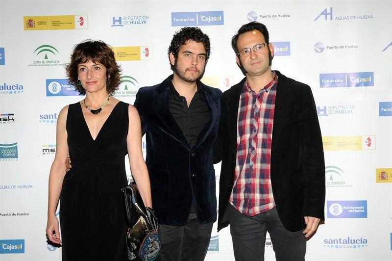 'Photocall' de 'Os meninos de rio', el inicio del vínculo con Javier Macipe (centro). En la imagen aparece también Javier Cerdá (director de fotografía)