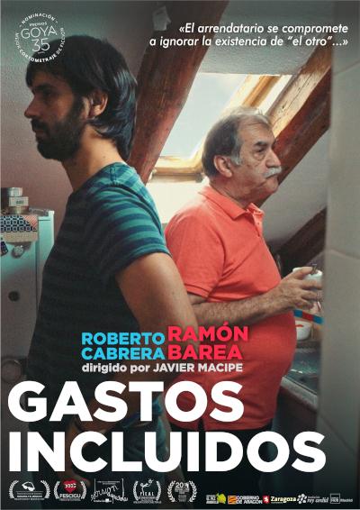 Cartel de 'Gastos incluidos', corto de Javier Macipe producido por Amelia Hernández