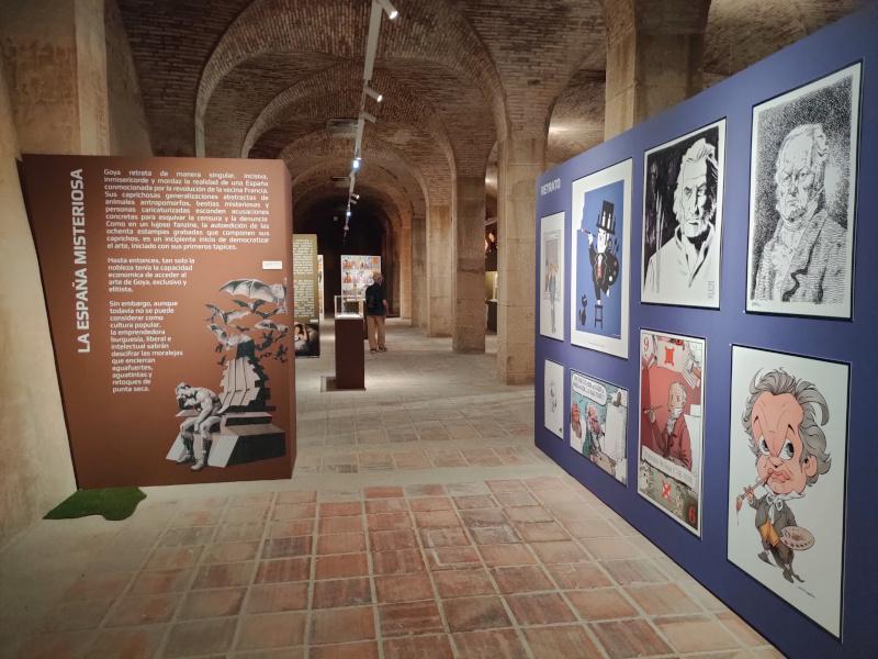 El inicio de la exposición 'El cómic y Goya'