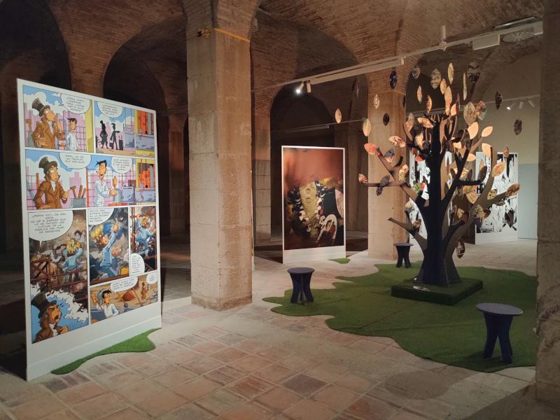 Un pasaje de la exposición 'El cómic y Goya'